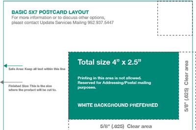5x7 Postcard Template